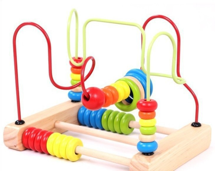 Childrens Souptoys Kids Bead Rollercoaster Beads On A Wire
