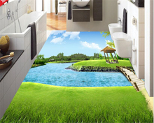 beibehang Custom fashion aesthetic wall paper toilet kitchen living room creek path woods 3D floor papel de parede 3d wallpaper beibehang large fashion personality papel de parede 3d wallpaper watermark 3d for interior wall paper floor ceiling background