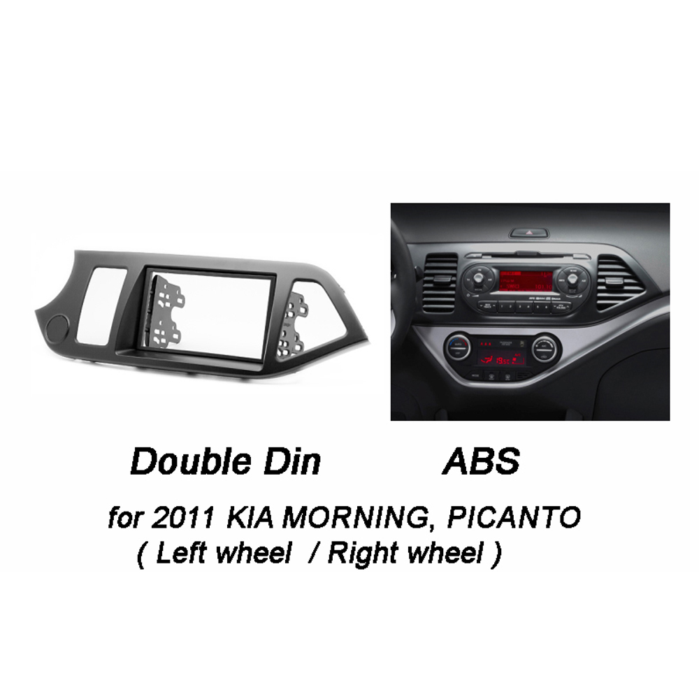 Double Din Car Radio Fascia For Kia Picanto Ta Morning Stereo Dash Kit Panel Wiring Fitting Fit Installation Trim Facia Face Plate Dvd Frame In Fascias From Automobiles
