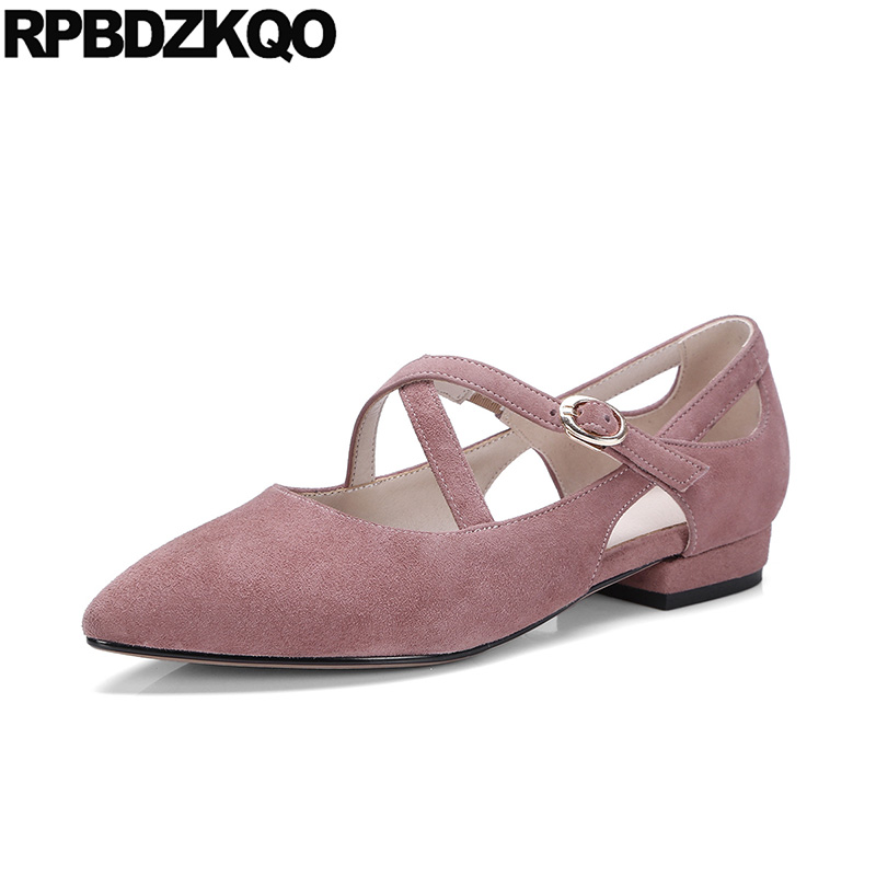 2018 Nude Pink Ladies Korean Women Pointed Toe Latest Shoes Designer China Beautiful Mary Jane Flats Mori Girl Suede Cross Strap2018 Nude Pink Ladies Korean Women Pointed Toe Latest Shoes Designer China Beautiful Mary Jane Flats Mori Girl Suede Cross Strap