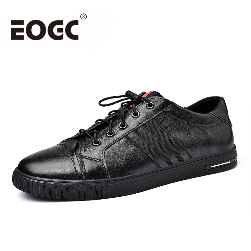 High Quality Genuine leather shoes men sneakers 2018 Spring Fashion Men flats shoes Comfortable black casual shoes for men shoes new men s fashion casual shoes high quality genuine leather comfortable loafers for men flats shoes brand taima 40 45