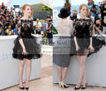 Chic Black Lace Tulle Short Prom Dresses with Sheer Half Sleeve 2016 Emma Stone Celebrity Red Carpet Dress vestidos para festa