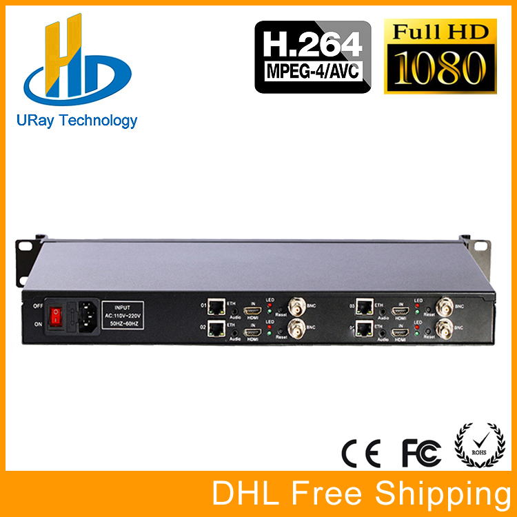 URay H.264 1U Rack HDMI CVBS /AV /RCA To IP Stream Video Encoder HD SD Video Streaming Encoder Hardware H264 RTSP RTSP UDP брюки funky staff брюки queen