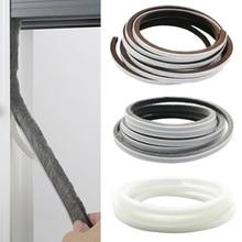 5M Self Adhesive Seal Strip Door Draught Excluder Window Pile Seal Film Door Brush Swal Weather Strip for Door Protector Strip