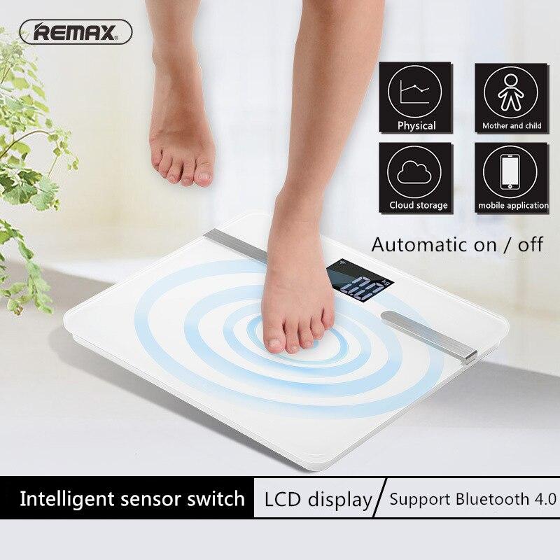 Original Remax APP contrôle connexion Bluetooth Mini balance intelligente suivi de mouvement Auto-commutateur affichage à cristaux liquides