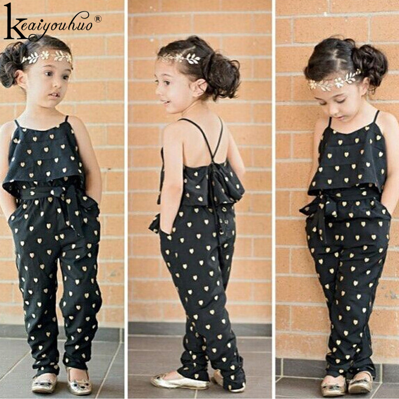 Summer Jumpsuits For Toddler Girl Clothes Set Kids Clothes Children Clothing Girls Rompers Tracksuit For Girls 2 3 4 5 6 7 Years