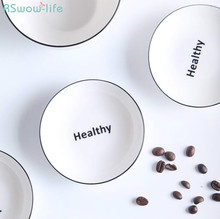 Creative Household Soy Sauce Dishes Tableware Ceramics Dish Set Small Serving Plate Fruit Round Side Plates Restaurant Dinner