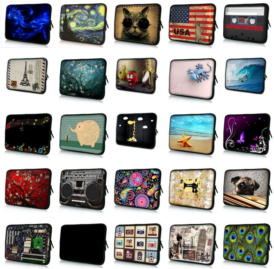 waterproof 7 9.7 10 12 11.6 13 13.3 14 14.4 15 15.4 15.6 17 17.3 inch Notebook Sleeve Laptop Bag Case Cover With handle #W