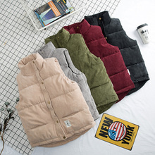 men Down cotton vest autumn and winter corduroy thickening mens couple women jacket