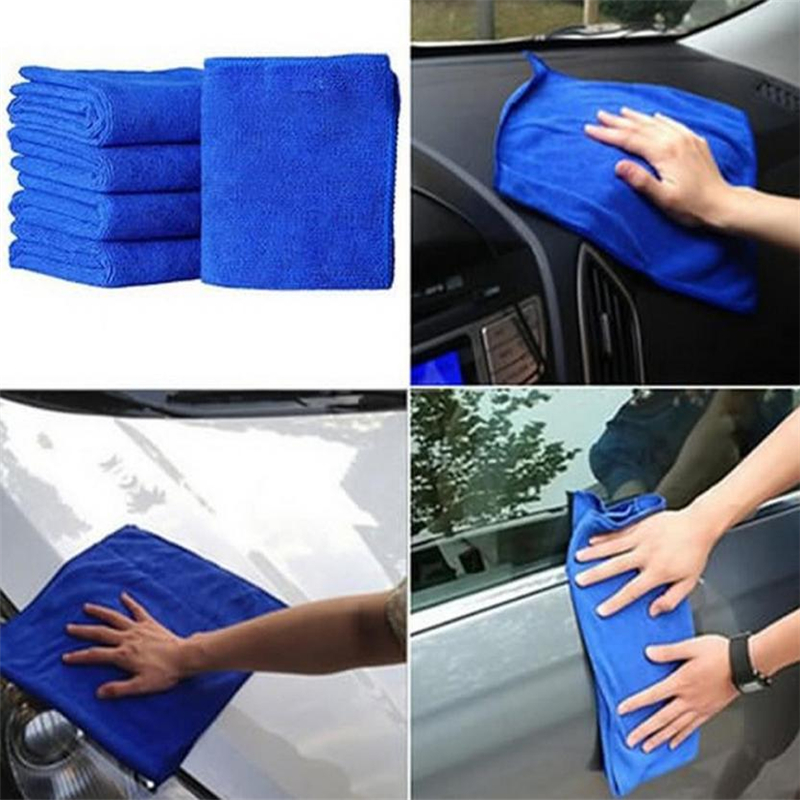 New Practical 1Pcs Blue Soft Absorbent Wash Cloth Car Auto Care Microfiber_KXL0801