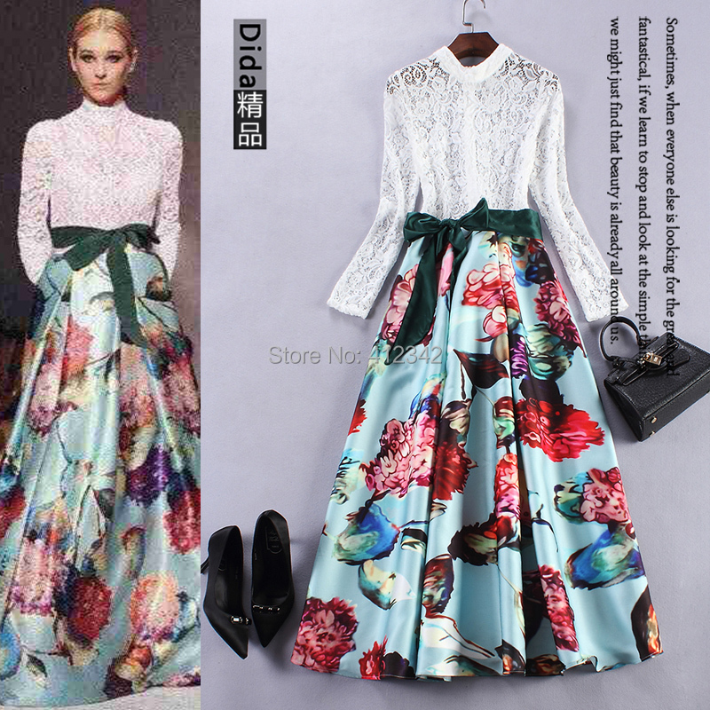 Online Shop Shop 2015 runway dress online New Spring Fashion ...
