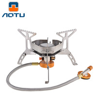 Portable Outdoor Survival Gas Stove Oven Windproof Furnace Split Stoves Folding Mini Camping Stove Picnic Cooking Gas Burners