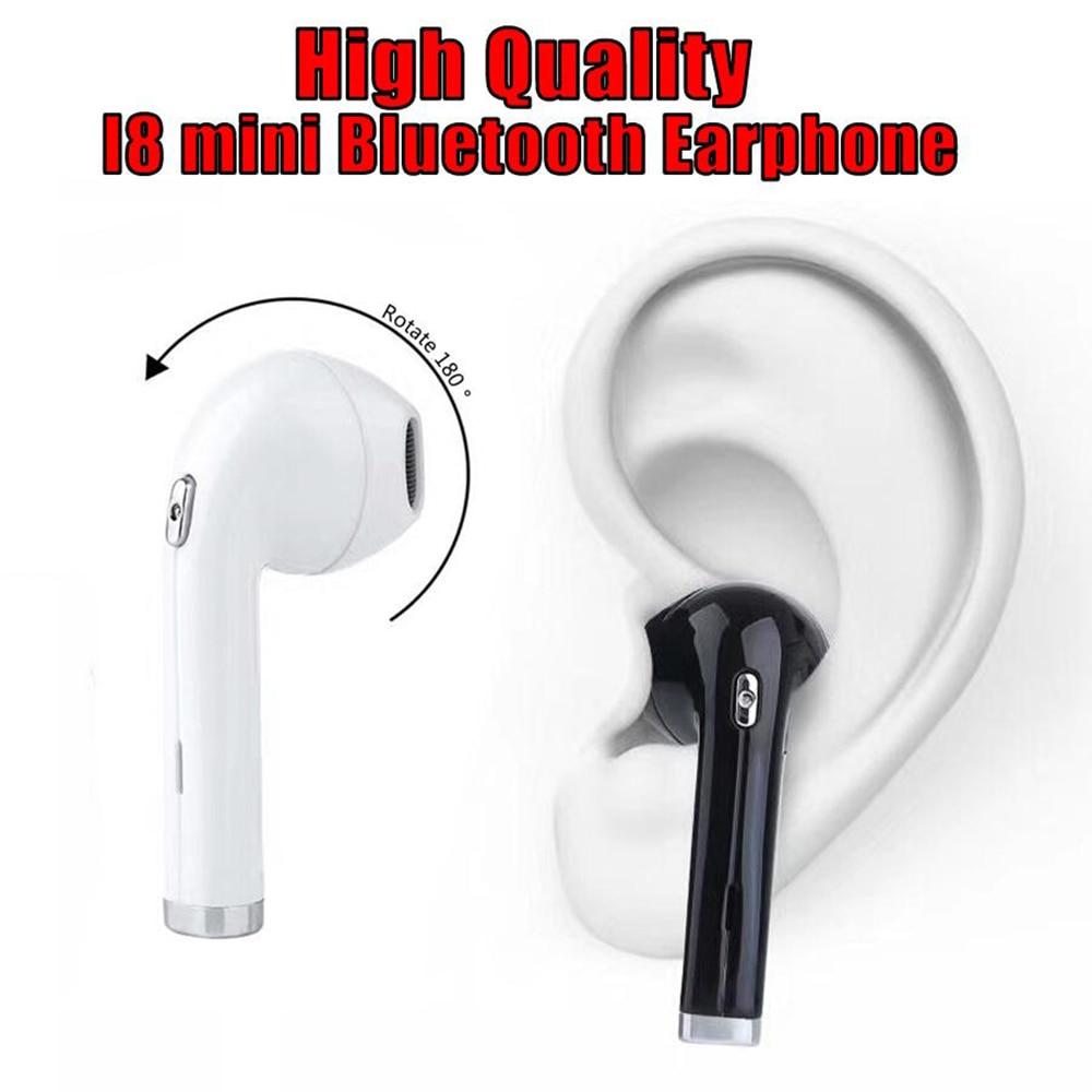 Nouveau I8 Mini Sans Fil Écouteurs Musique Écouteurs Bluetooth Micro Casque Sport Casque 180 Degrés de Rotation pour iphone Pour Sumsung