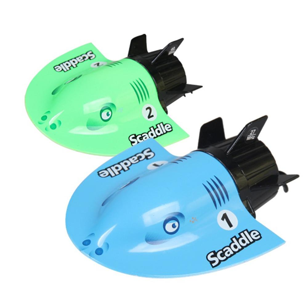 Electric <font><b>Remote</b></font> <font><b>Control</b></font> Fish Shape Mini Submarine Racing Boat Kids Children Toy image