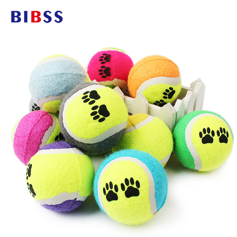 Chien Perro 3pcs/lot 6cm Diameter Training Pet For Dog Toy Ball Throwing Tennis Bite Resistant Cats Dogs Chew Toysballs