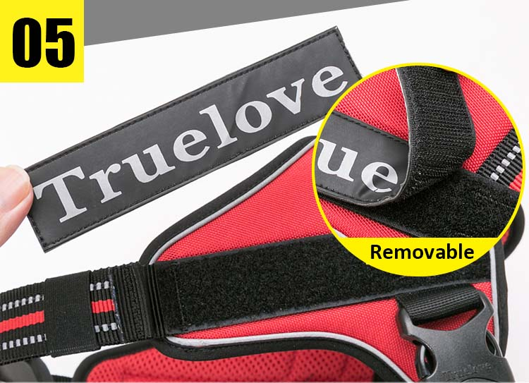 MySudui Truelove Large Dog Harness Vest Reflective Chihuahua Large No Pull Tactical Small Pet Dog Vest Harness Pet Harness Vest (6)