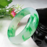 Chinese Hand-carved Natural Jadeite Jade Bracelet 60mm bulk Wholesale