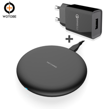 Mobile phone charger, Qi Wireless Charger 10W 7.5W 5Wfor iPhone X, iPhone 8/8 Plus, Samsung S9/S9+/S8/S8+/S7/Note 8/9, PowerPort цены