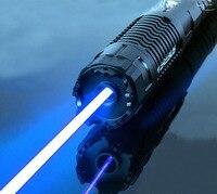 Сжигающий лазер Ультра мощный 450nm синий лазерный указатель отрегулировать фокус для резки света сигарета ожога бумаги