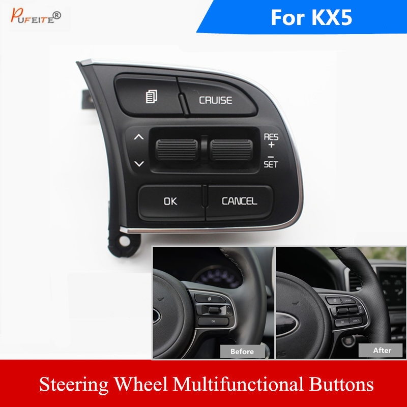 Steering Wheel Switch for KIA Sportager 2016 2017 KX5 2016 cruise control buttons car accessories Menu volume