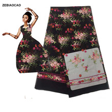 2 yards! French Lace black lace Flower Afican Nigerian fabric women party dress for weddng DIY
