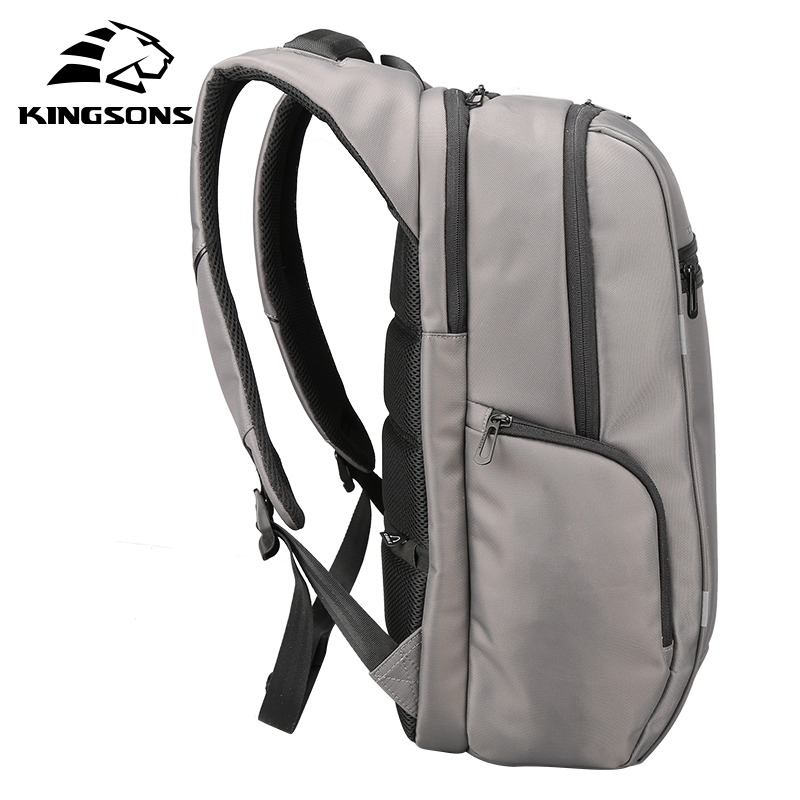 Kingsons Brand External USB Charge Computer Bag Anti theft Notebook Backpack 15/17 inch Waterproof Laptop Backpack for Men Women-in Backpacks from Luggage & Bags    3