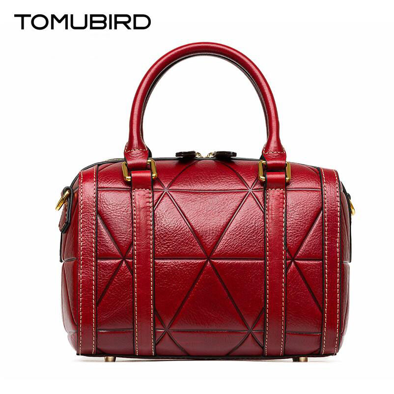 TOMUBIRD New Superior cowhide leather Designer embossed Pillow bag famous brand women bag fashion Tote women genuine leather bag tomubird new superior cowhide leather designer rose embossed famous brand women bag fashion tote women genuine leather bag