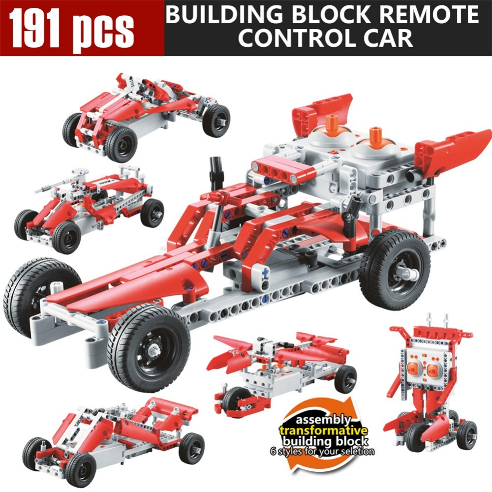 191Pcs block SDL 2017A-28 2 Channels 10-in-1 DIY Blocking Remote Control Vehicle Car best gift toys wholesale Remote Control