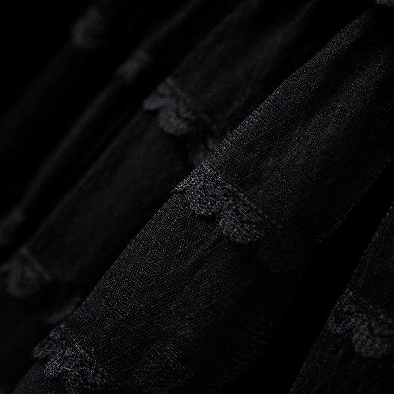 Spliced Longues Black Loisirs Printemps Femelle Robe Irrégulière À Mesh Longue Femmes Dames Manches Robes Capuchon Lâche Getsring Nouveau FtzqCfwxx