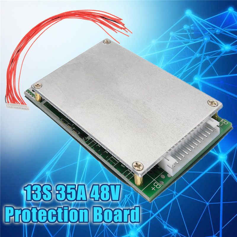 13S 35A 18650 Battery Charger Li-ion Lithium Protection PCB BMS Board 48V