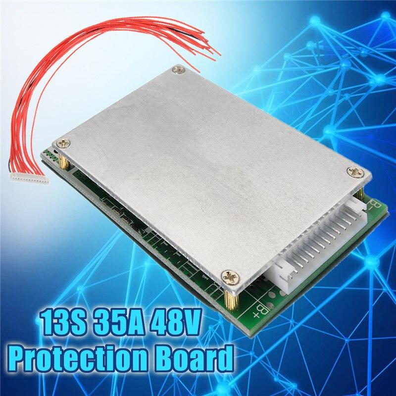 1 unid 13 S 35A 48 V Li-ion de litio 18650 batería de protección con BMS PCB protección equilibrio integrado circuitos