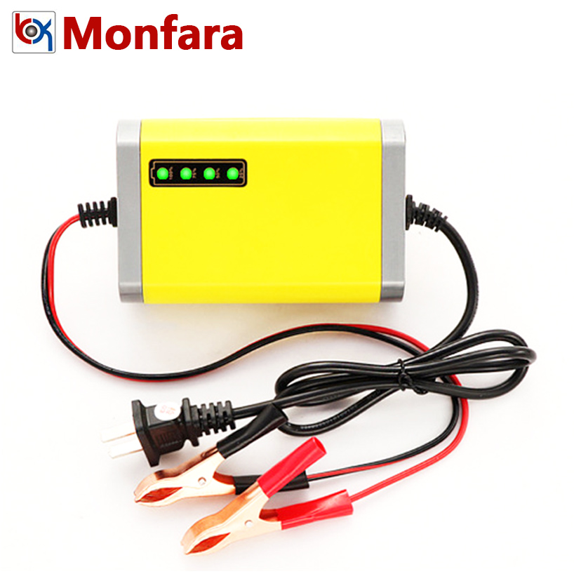 12V 2A <font><b>Smart</b></font> <font><b>Car</b></font> Lead-Acid <font><b>Battery</b></font> <font><b>Charger</b></font> for Automobile Motorcycle Farm Sprayer Atomizer Spray Machine Tool 12 V Volt Charge