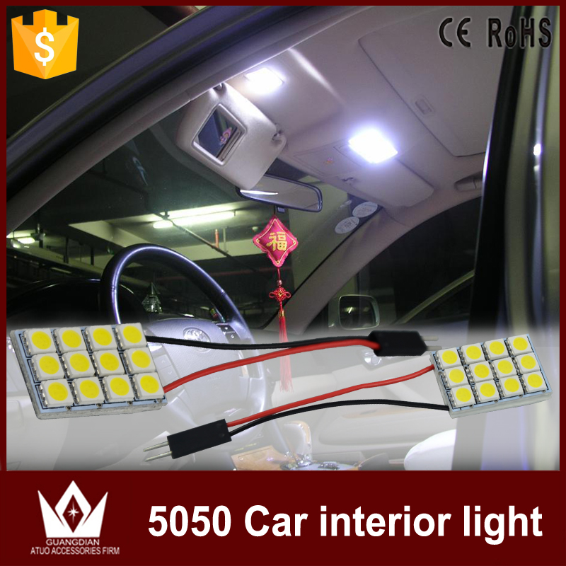 Tcart 6pcs Car Led Interior Light Kit Auto White Reading Lamps 5050 Dome Light T10 Festoon For Nissan Leaf accessories 2010-2016