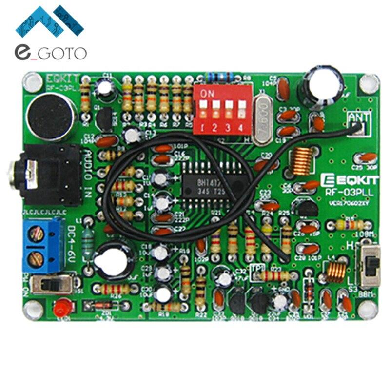 87-108 MHz FM Modulation de Fréquence Sans Fil Microphone Module Émetteur FM DIY Conseil Pièces Stéréo Transmetteur FM Module DC 4-6 V