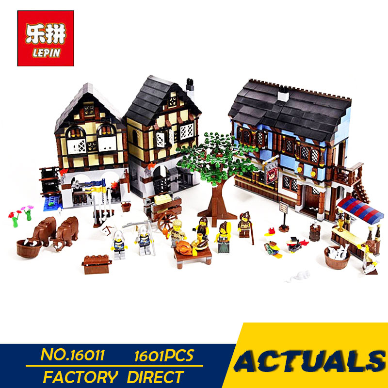 LEPIN 16011 1601Pcs Castle Series The Medieval Manor Castle Set Educational Building Blocks Bricks Model Toys Gift 10193 lepin 02020 965pcs city series the new police station set children educational building blocks bricks toys model for gift 60141