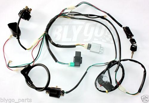 popular complete wiring harness buy cheap complete wiring harness shipping complete electric start engine wiring harness loom 110 125cc quad bike atv buggy