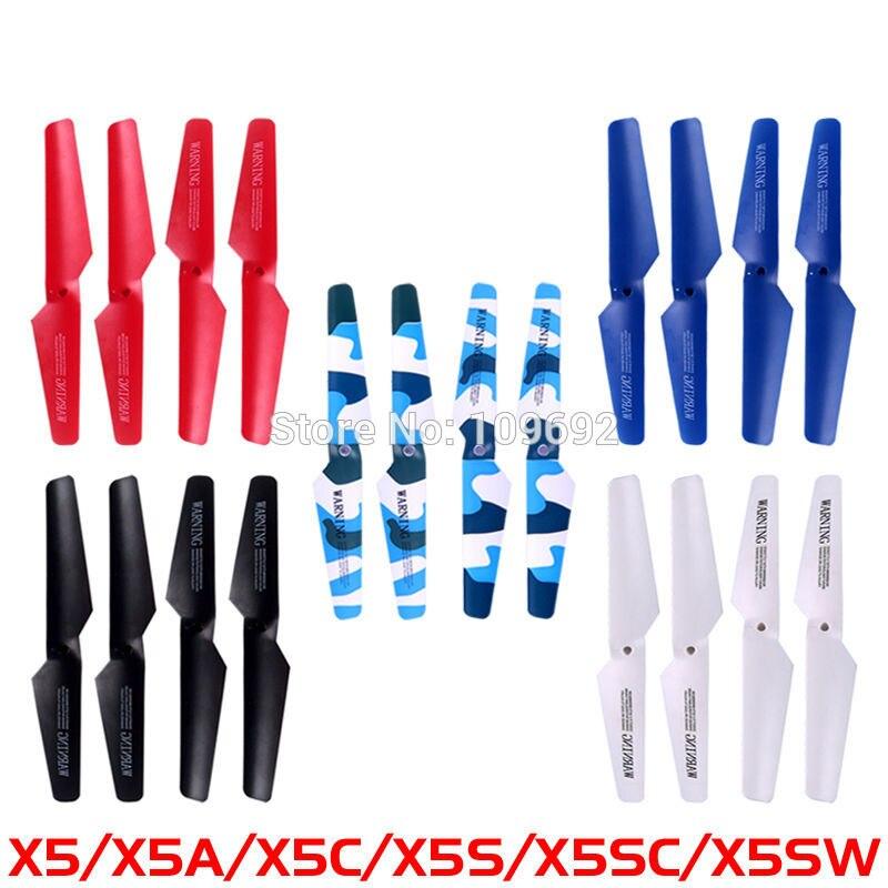 5 cuchillas principales SYMA X5 X5A X5C X5C-1 X5SC X5SW hélices juegos Quadcopter RC Drone Wing piezas de repuesto helicóptero accesorios