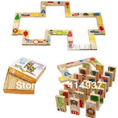 wooden puzzle drangon dominoes 3d puzzle modified and exported Spain wooden toys