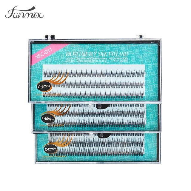 2017 인기있는 자연 fishtail 유형 패션 dovetail 플라이 속눈썹 소프트 밍크 속눈썹 연장 도구 가짜 속눈썹