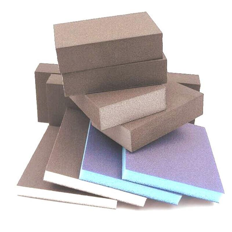 250бр шкурка 120-180 мрежеста гъба с мека кърпа за полиране на абразивни материали безплатна доставка