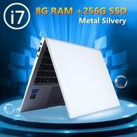 15.6 i7 8GB RAM 512GB SSD Metal Windows10 cpu Intel i7 6500U UItraBook Thin Silver AZERTY Spanish Russian Keyboard back light