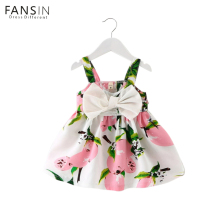 Fansin Brand Newborn Baby Girl Dresses Floral Sleeveless Cotton Children Clothing Summer Girls Dress Infant Kid Princess Clothes