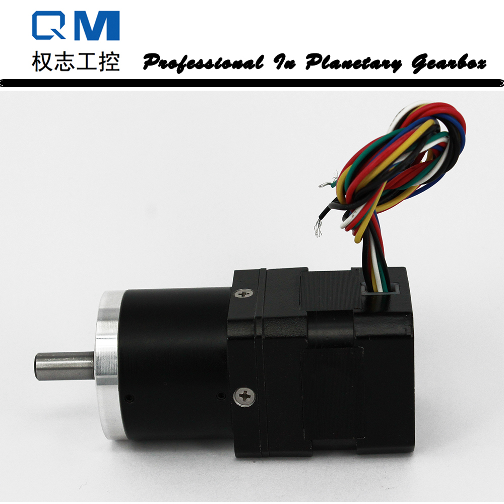 DC motor nema 17 30W 24V bldc motor gear dc brushless motor planetary reduction gearbox ratio 40:1 high quality 5n m 42 42 119 7mm brushless dc motor with planetary gearbox reduction ratio 104 8