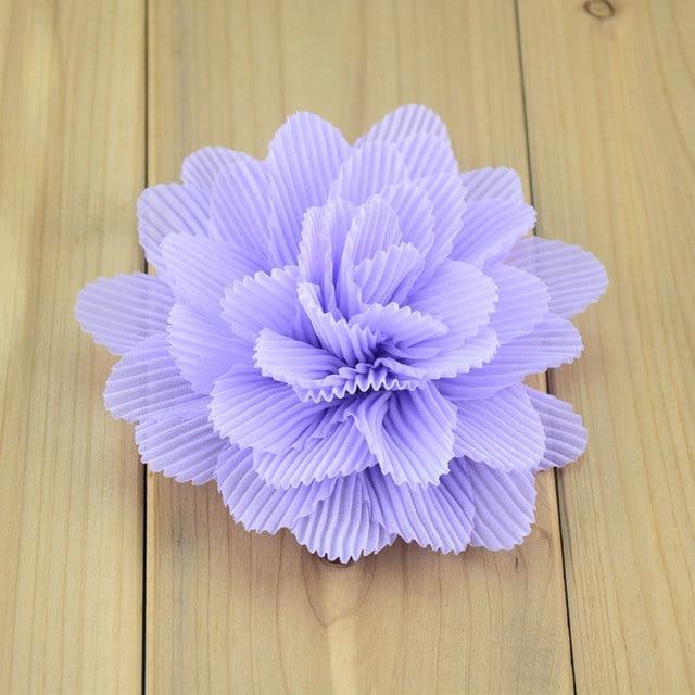 10pc 4 Chiffon Flowers Diy Hair Flowers For Headbands Kids Girls