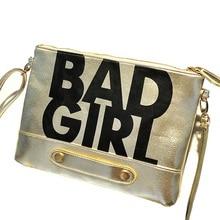 New Fashion Handbags Women Leather Shoulder bags Letter Mini Women Messenger Bag with Sequins Bad Girl Clutch Bags MI6641