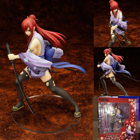 20cm Anime Fairy Tail 2 Edition Erza Scarlet Doll PVC Action Figure Sexy Cute Girl Figurine