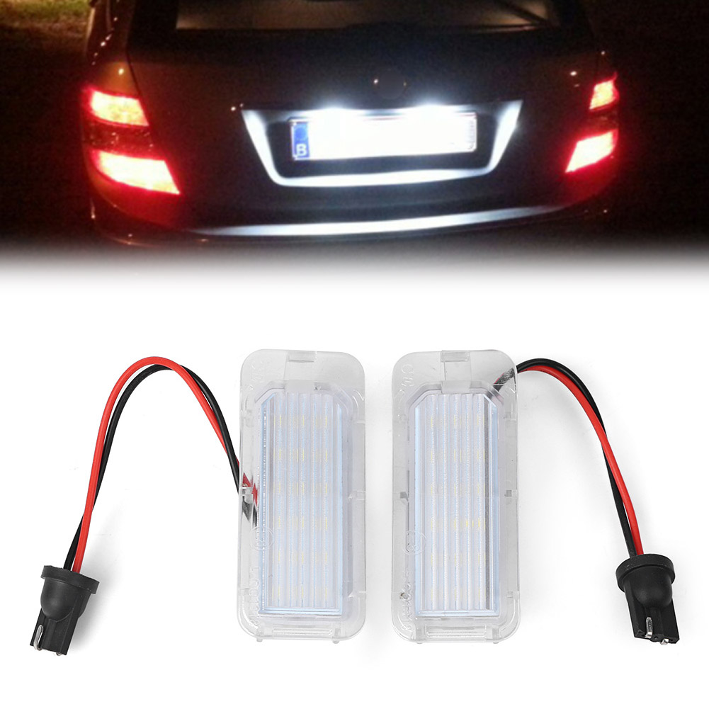 2 LED Licence Number Plate Light For Ford Fiesta Focus C-Max Kuga Mondeo Galaxy