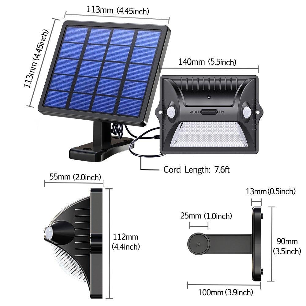 de movimento sensing 5-modos ajustável painel solar