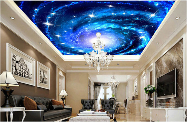 Us 16 73 38 Off Charming Galaxy Photo Wallpaper 3d Wallpaper Starry Night Ceiling Bedroom Kids Room Decor Wedding Decoration Unique Wall Mural In