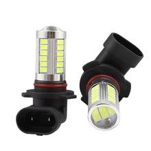 цена на 2pcs Super Bright Car led 9005 hb3 9006 hb4 Auto Front Fog Lamp Daytime Running Light Bulb Turning Parking Bulbs 5630 33 SMD 12V